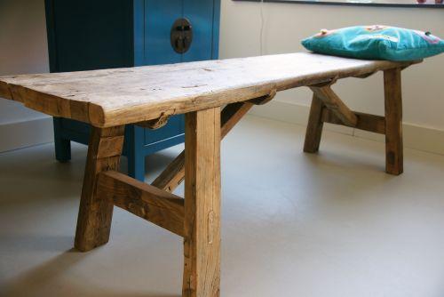 Oude Houten Keuken Opknappen : Brocante houten zitbankjes Alles Brocante